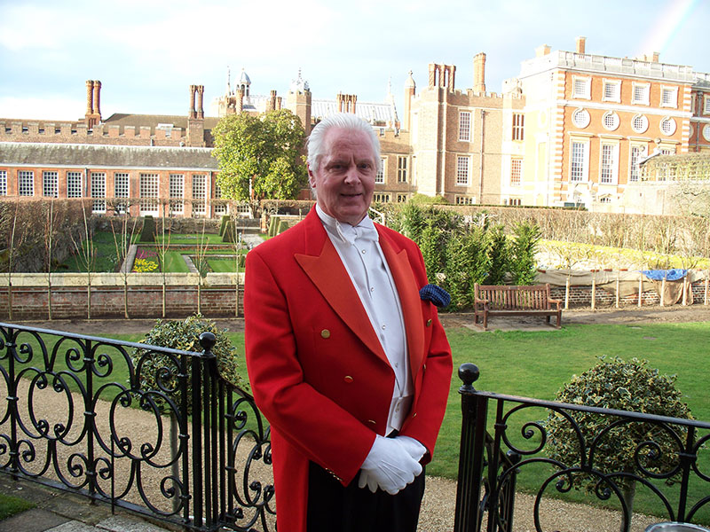 Brian Wells Toastmaster at Hampton Court Palace