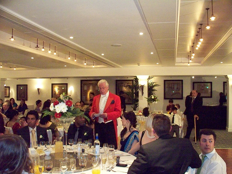 Toastmaster Announcing Speakers at Indian Wedding