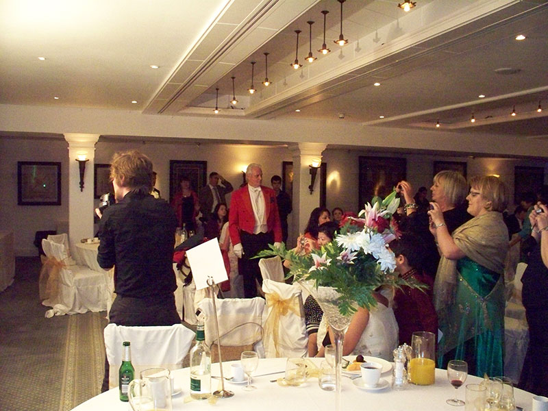Toastmaster Announcing First Dance at Wedding