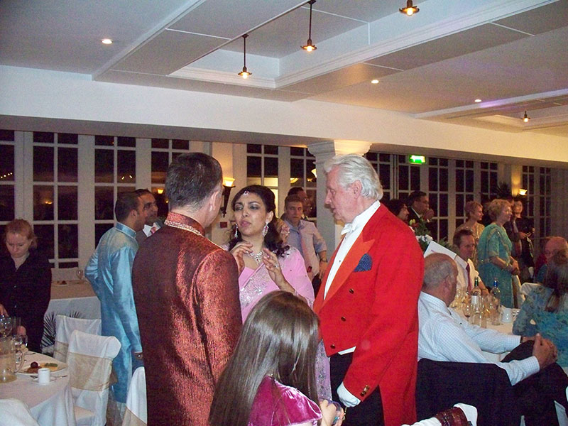 Toastmaster at Indian Wedding